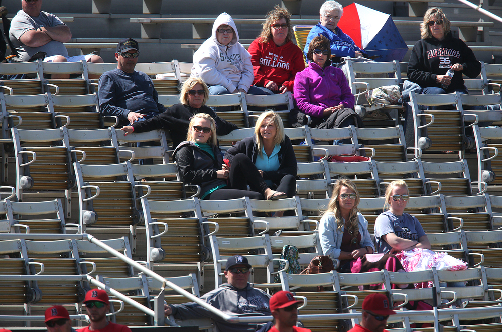 Fans of the Bulldogs take in the game Thursday afternoon. David Spencer/The State Journal-Register