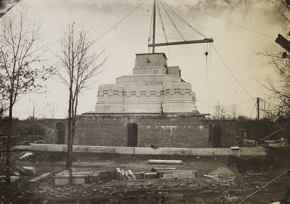 Reconstruction of the Lincoln Tomb circa 1900. Sangamon Valley Collection at Lincoln Library