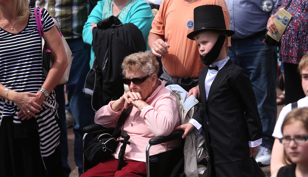 A young Abraham Lincoln was spied in the crowd who watched with thousands of others during the funeral ceremony. David Spencer/The State Journal-Register