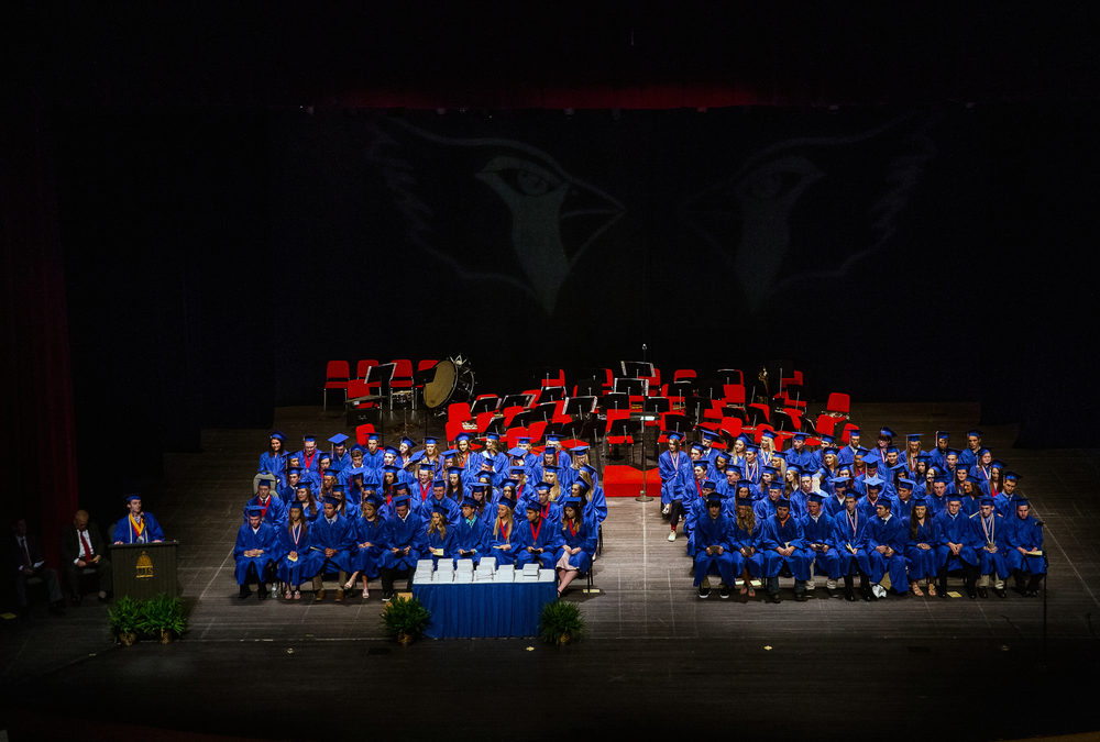 Salutatorian Zach Ross delivers his address during the 99th Commencement for Pleasant Plains High School at Sangamon Auditorium, Sunday, May 17, 2015, in Springfield, Ill. Justin L. Fowler/The State Journal-Register