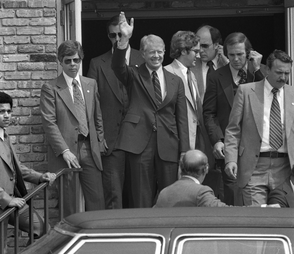 President Jimmy Carter leaves the Holiday Inn East May 26, 1978  where he attended a breakfast fundraiser for Democratic candidate for governor, Michael Bakalis. File/The State Journal-Register