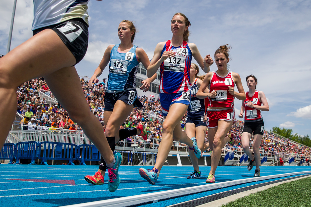 Carlinville's Colleen Madden finished 15th with a time of 12:12.99 in the Class 1A 3200m Run during the IHSA Girls Track and Field State Finals at O'Brien Stadium, Saturday, May 23, 2015, in Charleston, Ill. Justin L. Fowler/The State Journal-Register