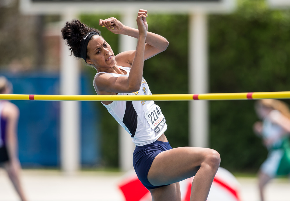 Southeast's Lunden Henry finished 5th clearing 5-04.00 in the Class 2A High Jump during the IHSA Girls Track and Field State Finals at O'Brien Stadium, Saturday, May 23, 2015, in Charleston, Ill. Justin L. Fowler/The State Journal-Register