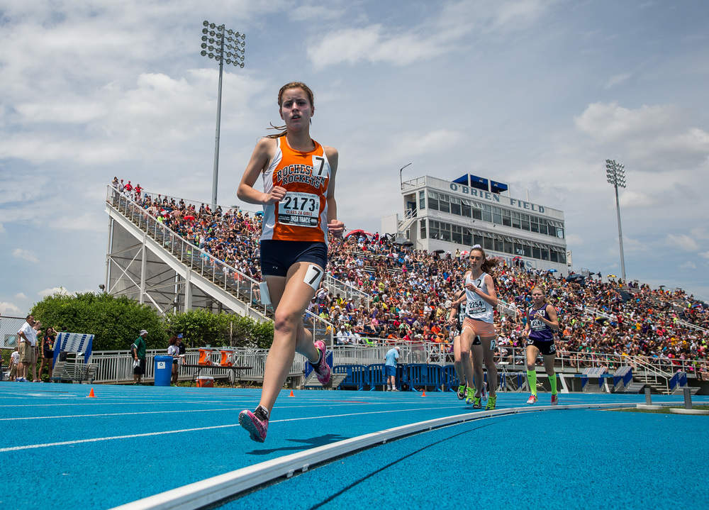 Rochester's Madeline Campbell finished 11th with a time of 11:34.78 in the Class 2A 3200m Run during the IHSA Girls Track and Field State Finals at O'Brien Stadium, Saturday, May 23, 2015, in Charleston, Ill. Justin L. Fowler/The State Journal-Register