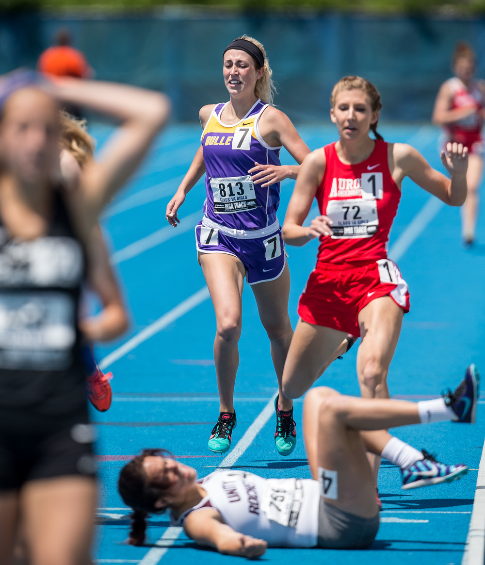 Williamsville's Abbey Galusha finished 10th with a time of 2:22.57 in the Class 1A 800m Run during the IHSA Girls Track and Field State Finals at O'Brien Stadium, Saturday, May 23, 2015, in Charleston, Ill. Justin L. Fowler/The State Journal-Register