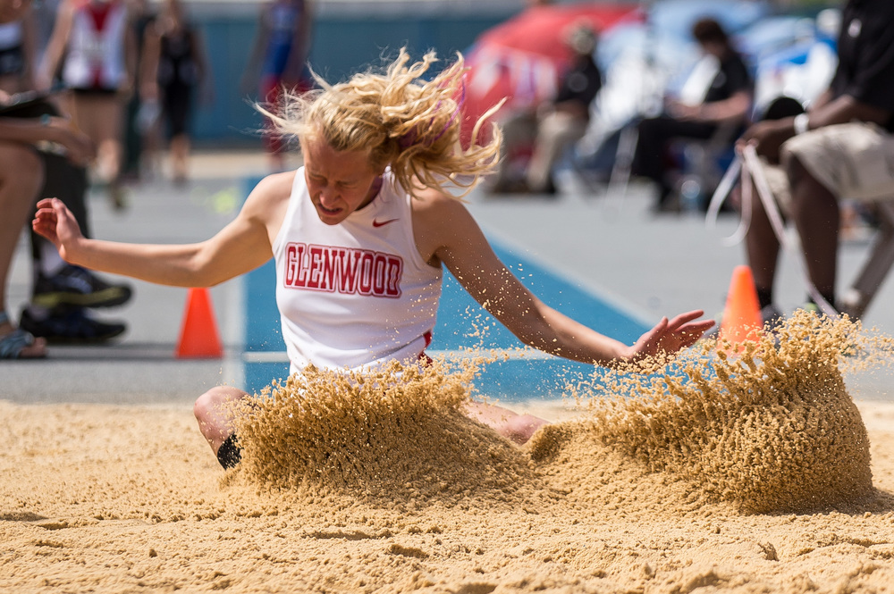 Glenwood's Alison Woerner finished 7th in the Class 2A Long Jump with a jump of 17-02.25 during the IHSA Track and Field State Finals at O'Brien Stadium, Saturday, May 23, 2015, in Charleston, Ill. Justin L. Fowler/The State Journal-Register