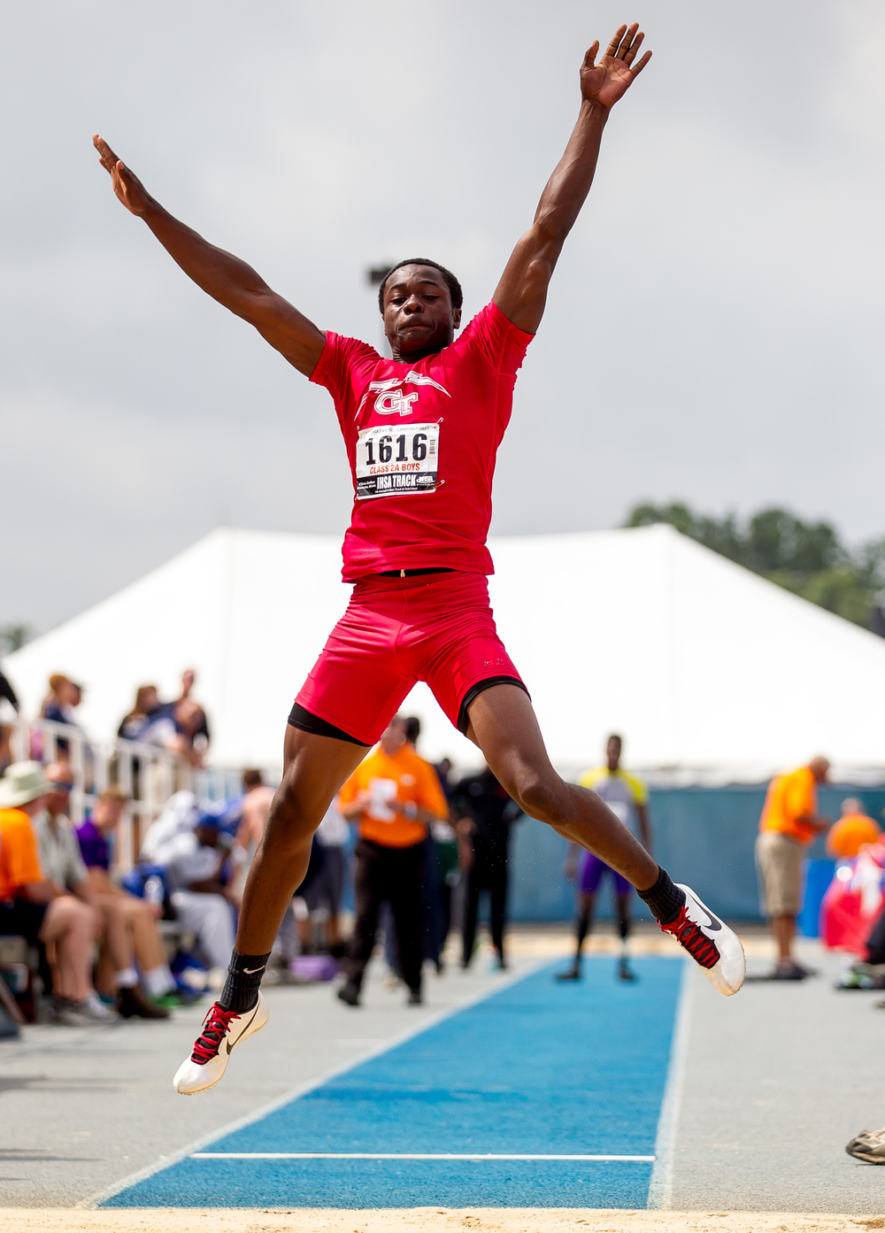 Glenwood's Tony Rolfe competes in the Class 2A Long Jump during the IHSA Boys Track and Field State Finals at O'Brien Stadium, Saturday, May 30, 2015, in Charleston, Ill. Rolfe finished 4th with a best jump of 22-01.50. Justin L. Fowler/The State Journal-Register