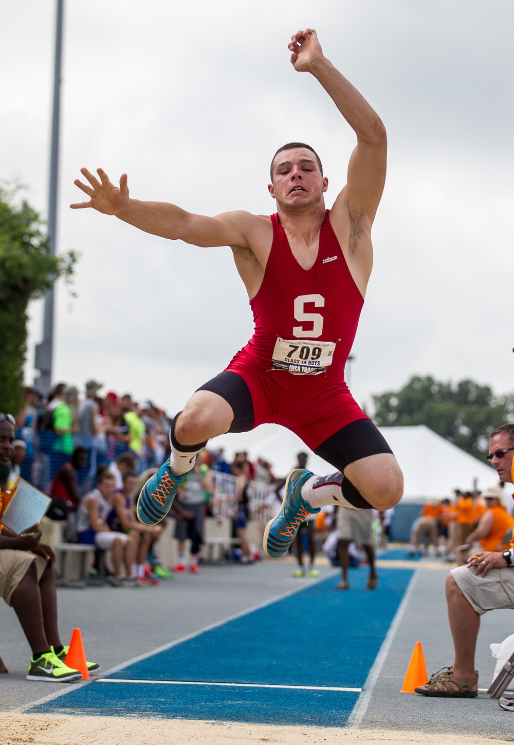 Staunton's Marcus Sitko wins the Class 1A Long Jump with a jump of 23-02.25 during the IHSA Boys Track and Field State Finals at O'Brien Stadium, Saturday, May 30, 2015, in Charleston, Ill. Justin L. Fowler/The State Journal-Register