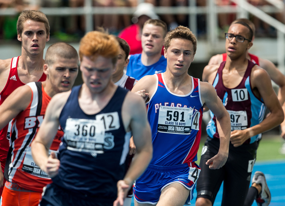 Pleasant Plains' David Plunkett finished 5th with a time of 1:58.23 in the Class 1A 800m Run during the IHSA Boys Track and Field State Finals at O'Brien Stadium, Saturday, May 30, 2015, in Charleston, Ill. Justin L. Fowler/The State Journal-Register