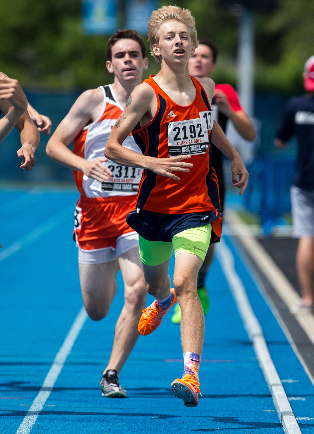 Rochester's Josh Cable finished 5th in the Class 2A 800 with a time of 1:57.23 during the IHSA Boys Track and Field State Finals at O'Brien Stadium, Saturday, May 30, 2015, in Charleston, Ill. Justin L. Fowler/The State Journal-Register