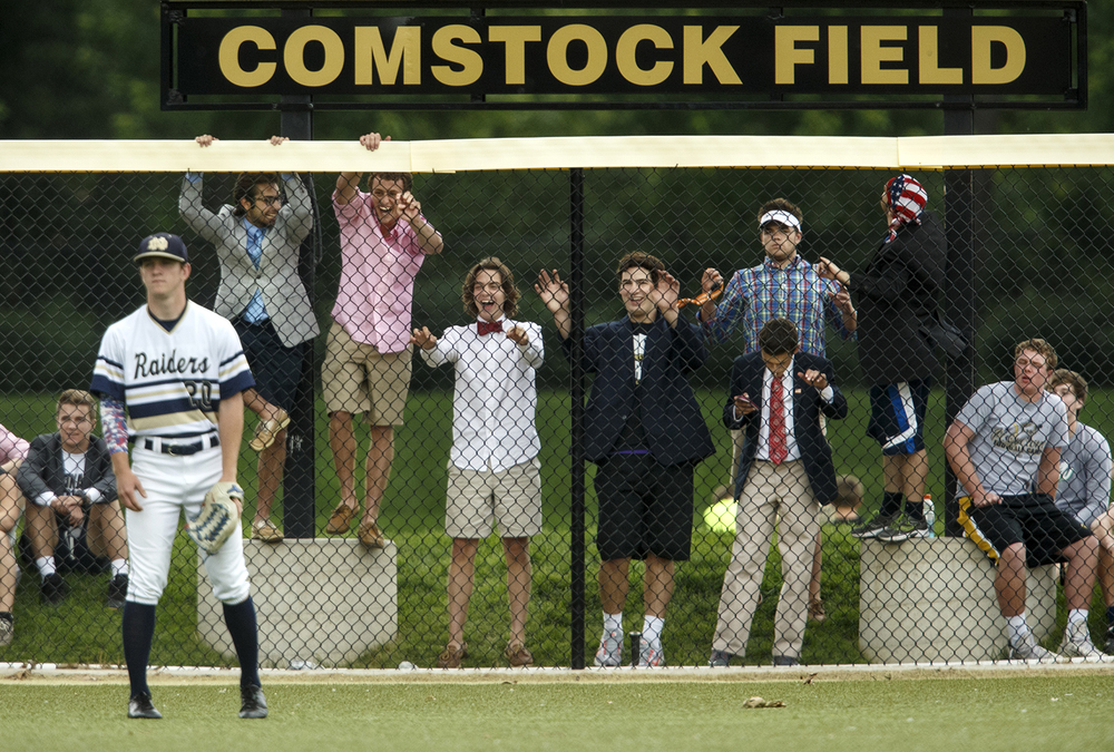 Sacred Heart-Griffin fans chatter at Quincy Notre Dame outfielder Luke Frieden during the Class 3A SHG Regional final Monday, June 1, 2015. Ted Schurter/The State Journal-Register