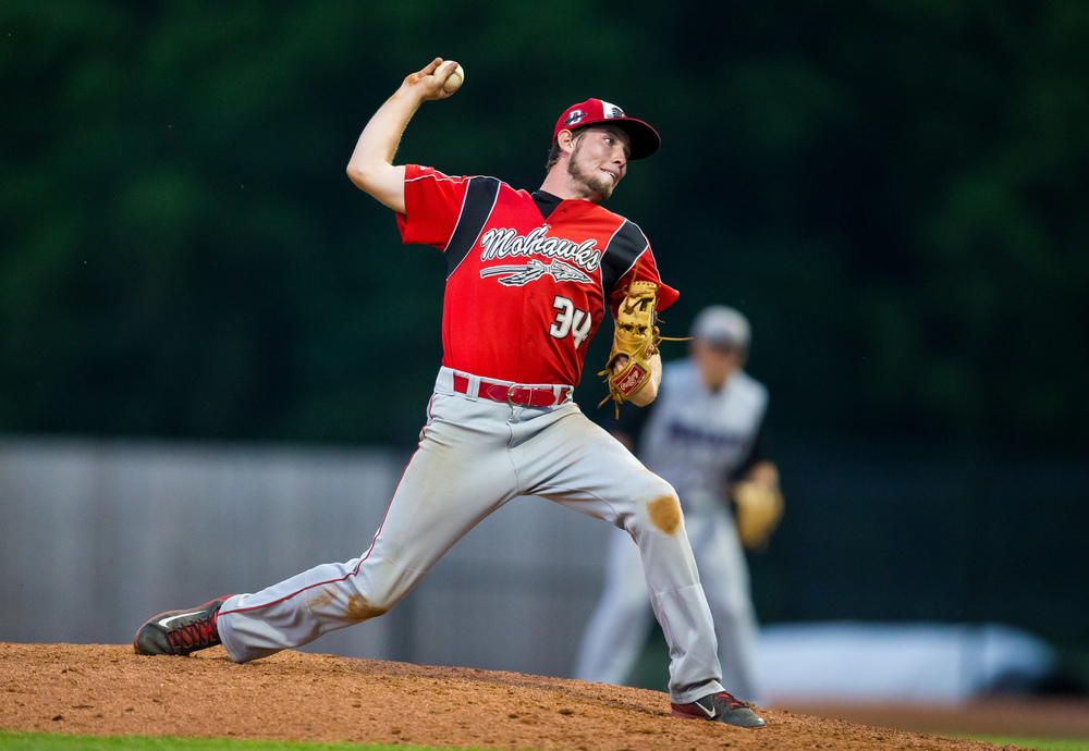 Morrisonville's Brady Wilkinson delivers to the plate against he CS8 team in the 9th inning during The Baseball Classic all-star game at Lincoln Land Community College's Claude Kracik Field, Tuesday, June 16, 2015, in Springfield, Ill. Justin L. Fowler/The State Journal-Register