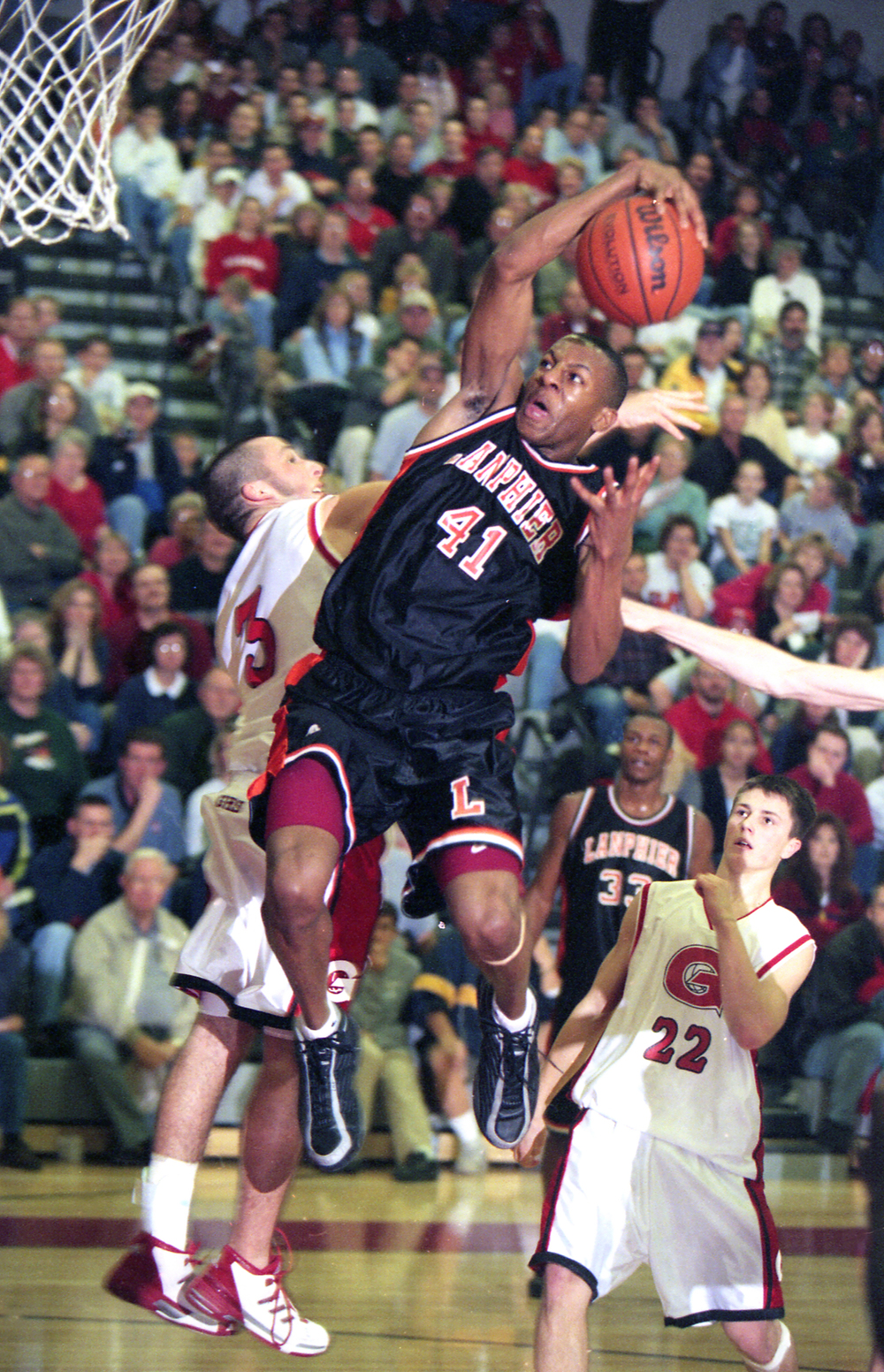 Lanphier High School's Andre Iguodala in a 2002 game against Glenwood. File/The State Journal-Register