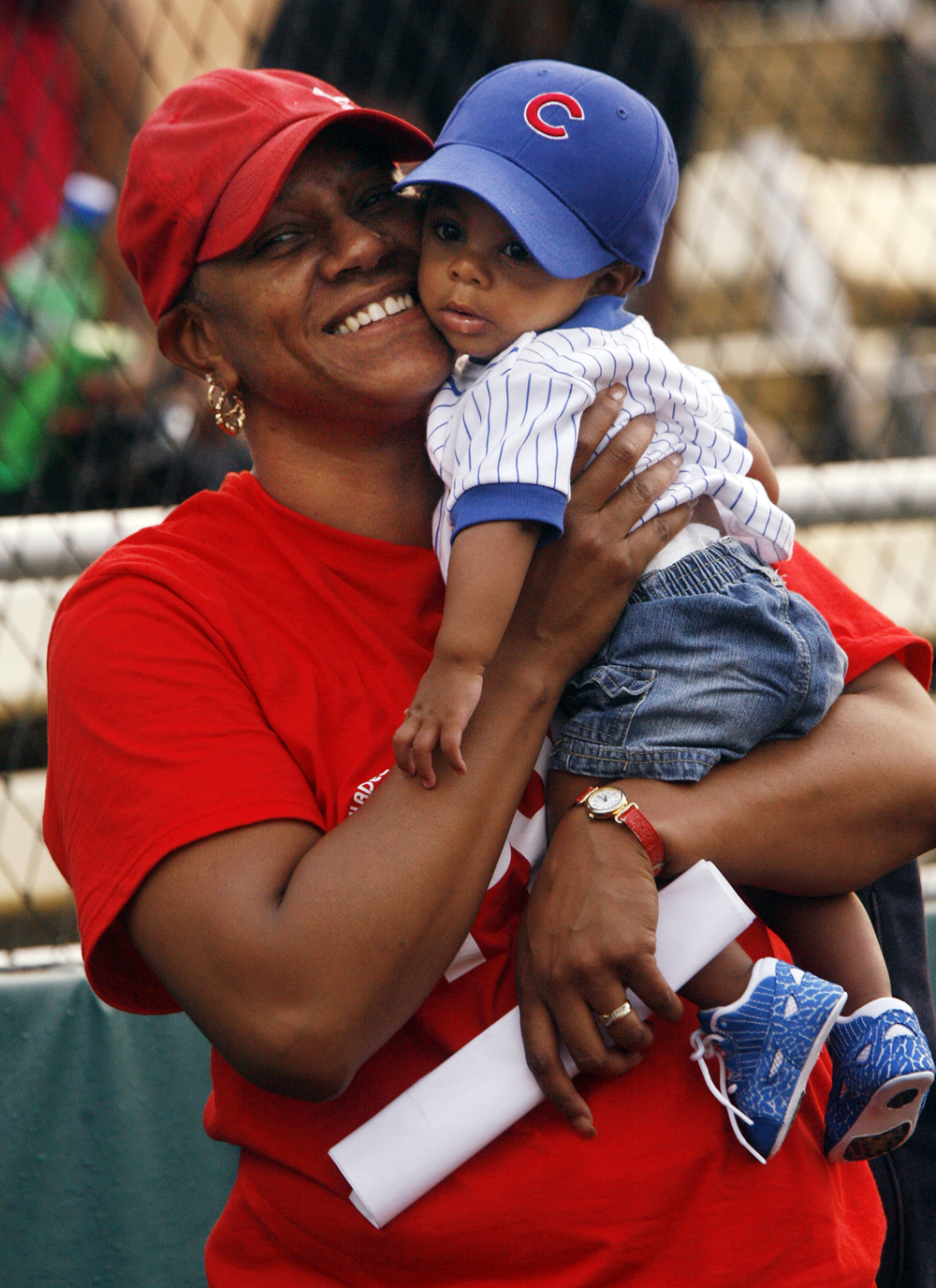 Linda Shanklin holds her grandson Andre Iguodala II during the  Andre Iguodala Celebrity All-Star Softball Game Sat. August 4, 2007 at Lanphier Park. Ted Schurter/The State Journal-Register