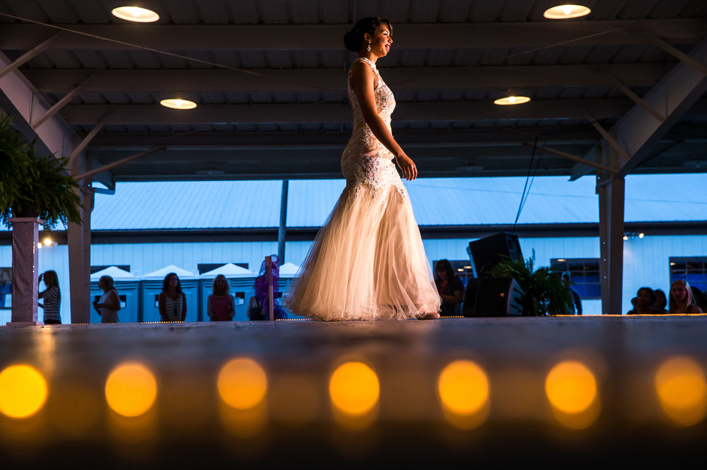 Sydney Lowder competes in the evening gown competition during the 57th Annual Sangamon County Fair Queen Pageant at the Sangamon County Fairgrounds, Wednesday, June 17, 2015, in New Berlin, Ill. Justin L. Fowler/The State Journal-Register