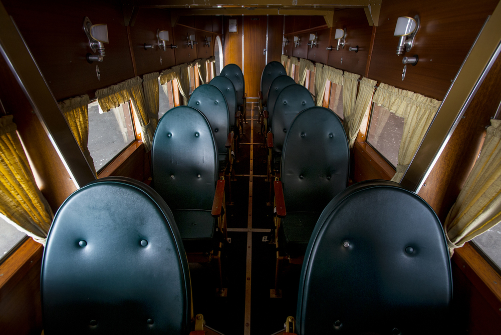 Each of the ten passenger seats in the 1928 Ford Tri-Motor 5-AT-B is a window seat. The plane was available for public rides last week. Ted Schurter/The State Journal-Register