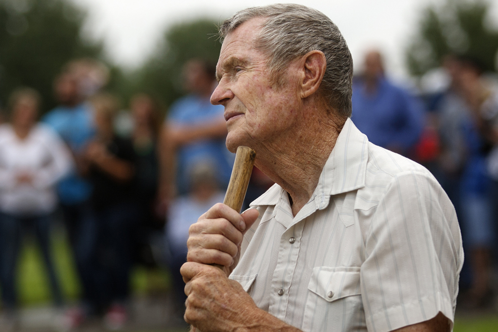 Al Martin travelled more than 120 miles to attend the rededication ceremony for the Mother Jones Monument at Union Miners' Cemetery in Mt. Olive Saturday, June 20, 2015. Ted Schurter/The State Journal-Register