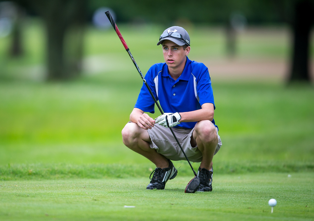 Josh Gray waits for his turn to tee off on the No. 16 hole during the Drysdale Junior Golf Tournament at Lincoln Greens Golf Course, Tuesday, July 7, 2015, in Springfield, Ill. Justin L. Fowler/The State Journal-Register