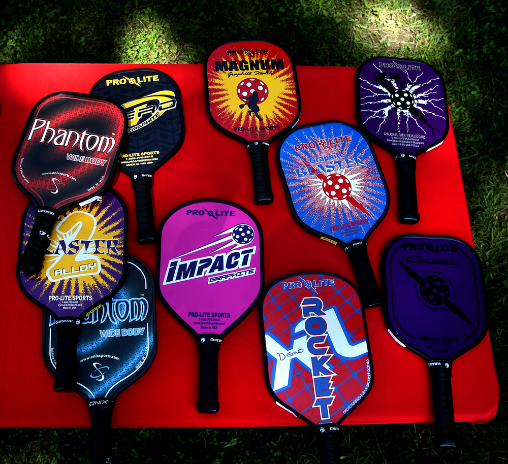 Demonstration paddles on display in all colors were available for those playing or thinking about learning the sport. David Spencer/The State Journal-Register