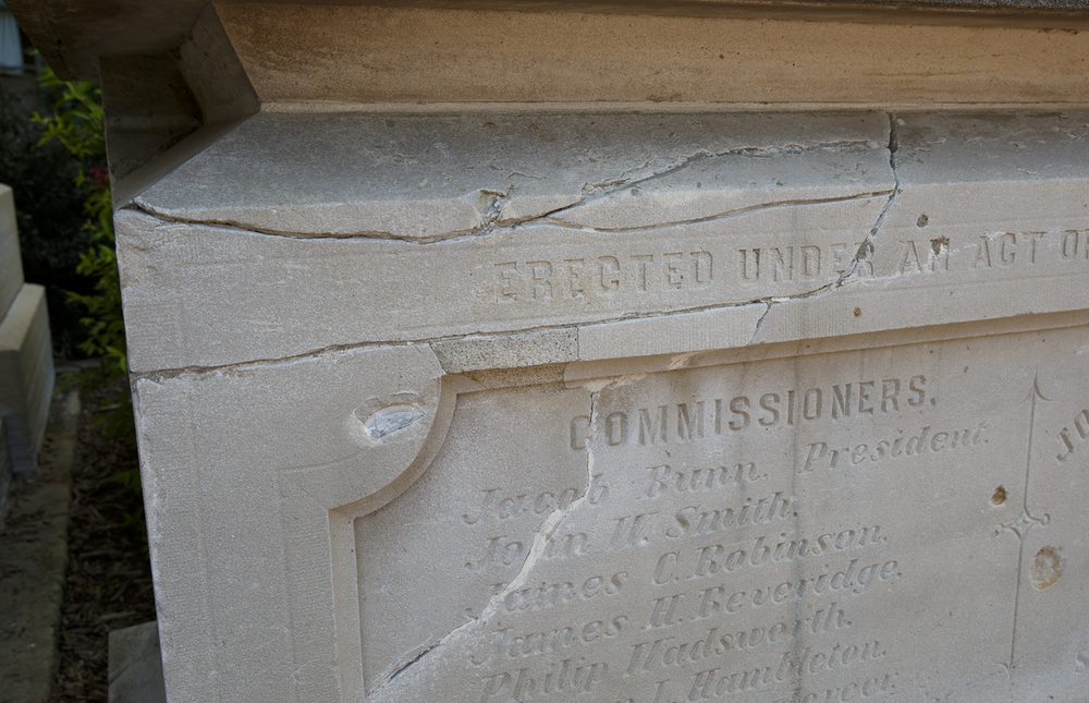 Cracks that developed in the original cornerstone lead to its removal, not religious prejudice as many believed at the time. The stone is on display outside the northeast corner of the Capitol. Rich Saal/The State Journal-Register