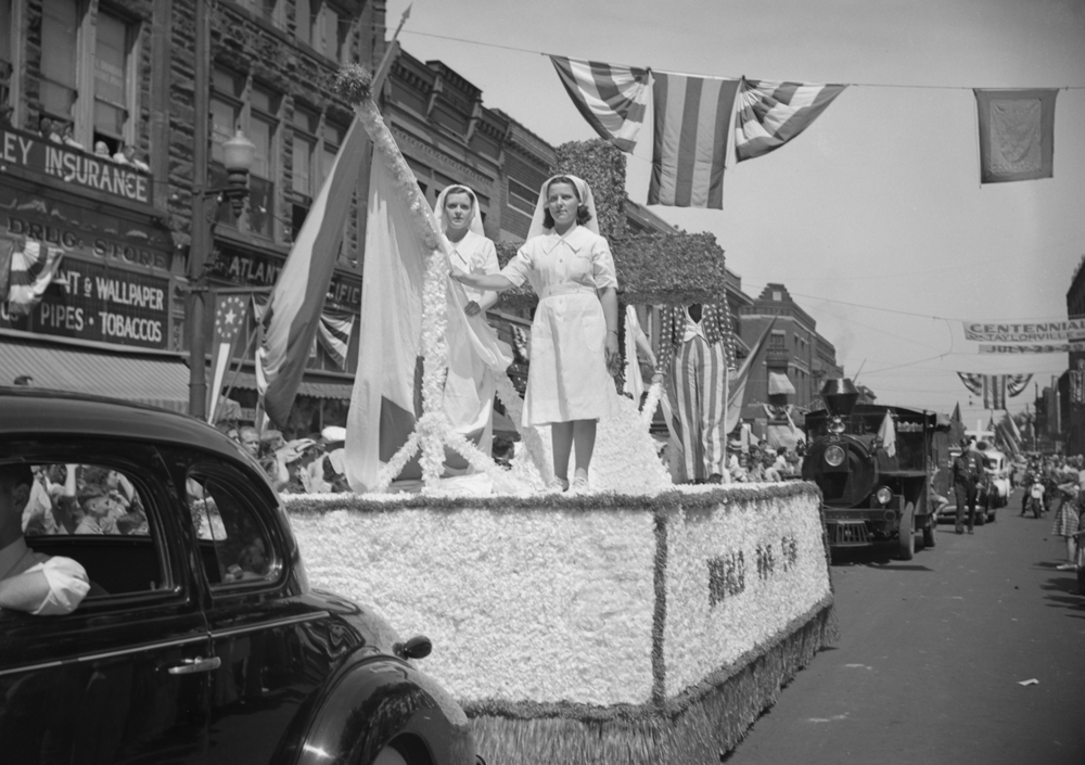 A float from the Christian County Red Cross in the Taylorville centennial celebration parade July 25, 1939. File/The State Journal-Register