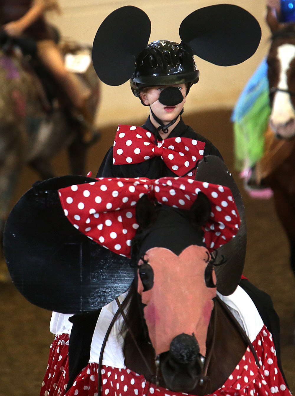 Minnie Mouse was in the house Thursday, or at least Shelby Lynch of McLean county and her horse Expensive Therapy. David Spencer/The State Journal-Register