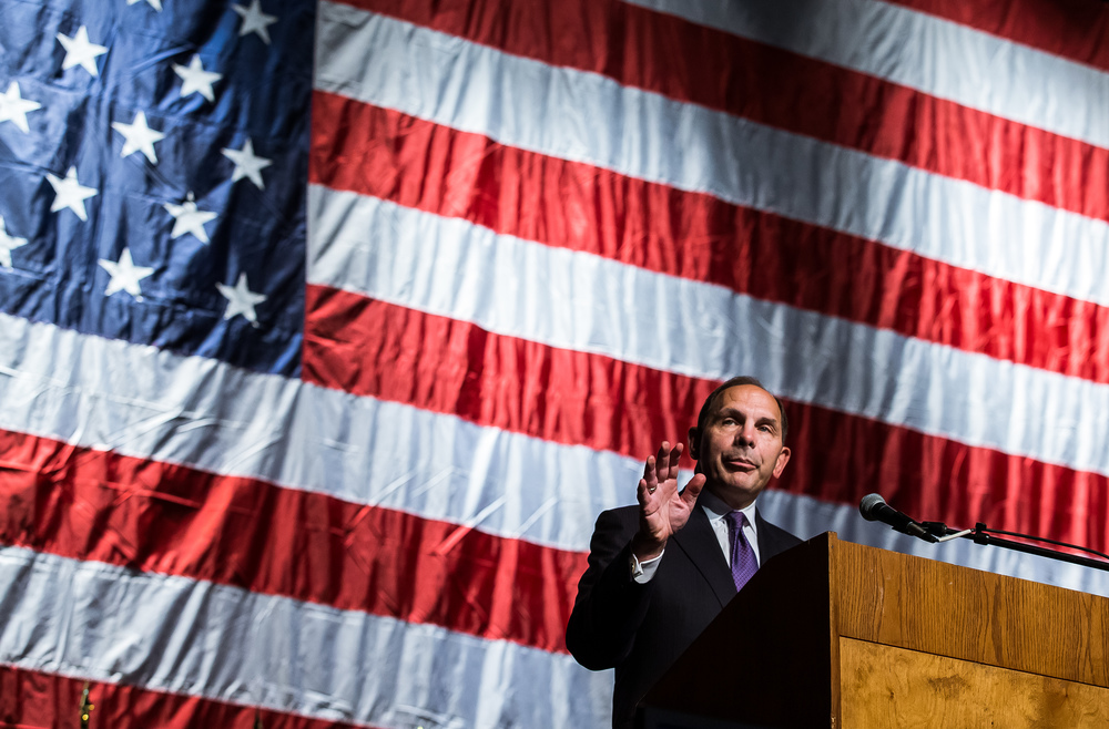 Veterans Affairs Secretary Robert McDonald gives his address during the Vietnam Veterans of America 2015 National Convention at the Prairie Capital Convention Center, Friday, July 24, 2015, in Springfield, Ill. Justin L. Fowler/The State Journal-Register