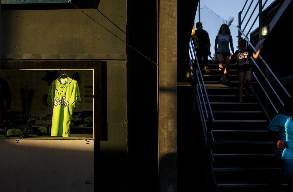 A souvenir Springfield Slider jersey hangs in a window at the stadium as the team plays the West Virginia Miners Friday, July 17, 2015. Ted Schurter/The State Journal-Register