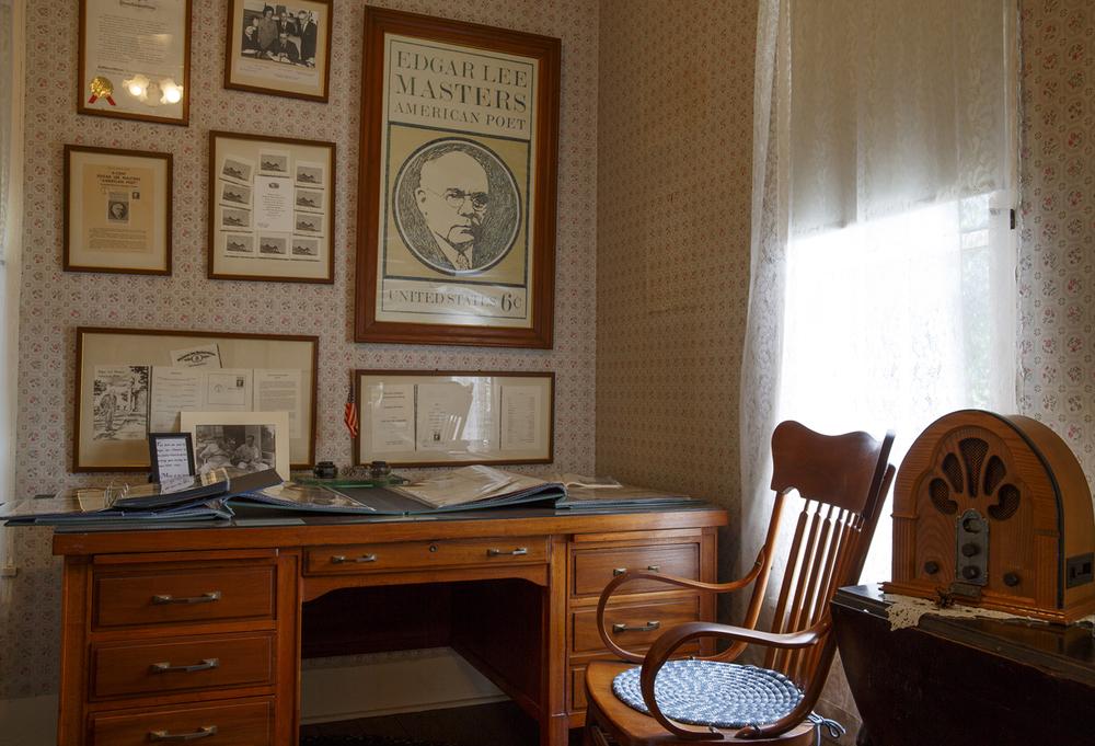 The Edgar Lee Masters boyhood home in Petersburg, Ill. July 27, 2015. Rich Saal/The State Journal-Register