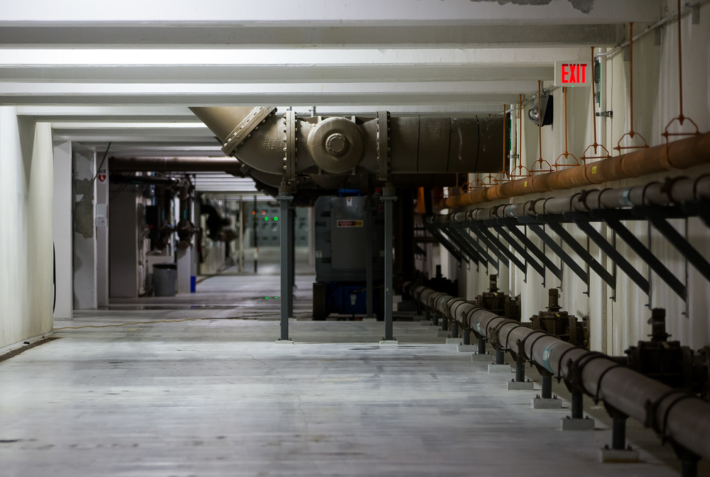 The piping system that carries water throughout the Springfield Metro Sanitary District's Spring Creek wastewater treatment plant was built inside an underground corridor that allows for easy maintenance compared to having the pipes buried in the ground. Justin L. Fowler/The State Journal-Register