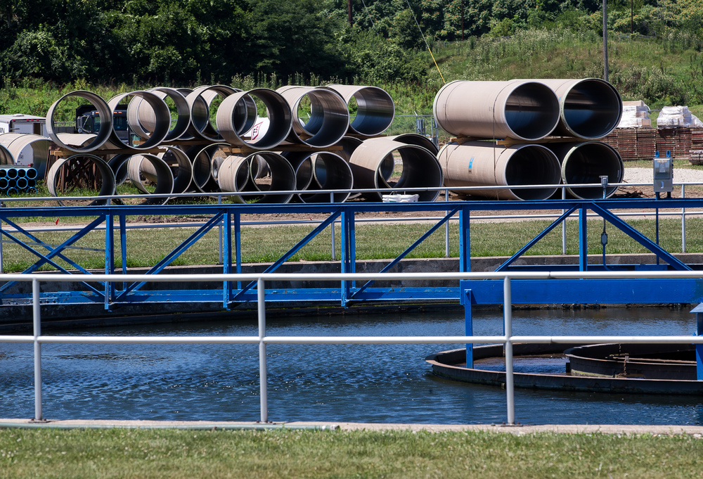 Piping is setup to be installed for the upgrades to the Springfield Metro Sanitary District's Sugar Creek wastewater treatment plant as the current system stays online, Friday, July 31, 2015, in Springfield, Ill. Justin L. Fowler/The State Journal-Register