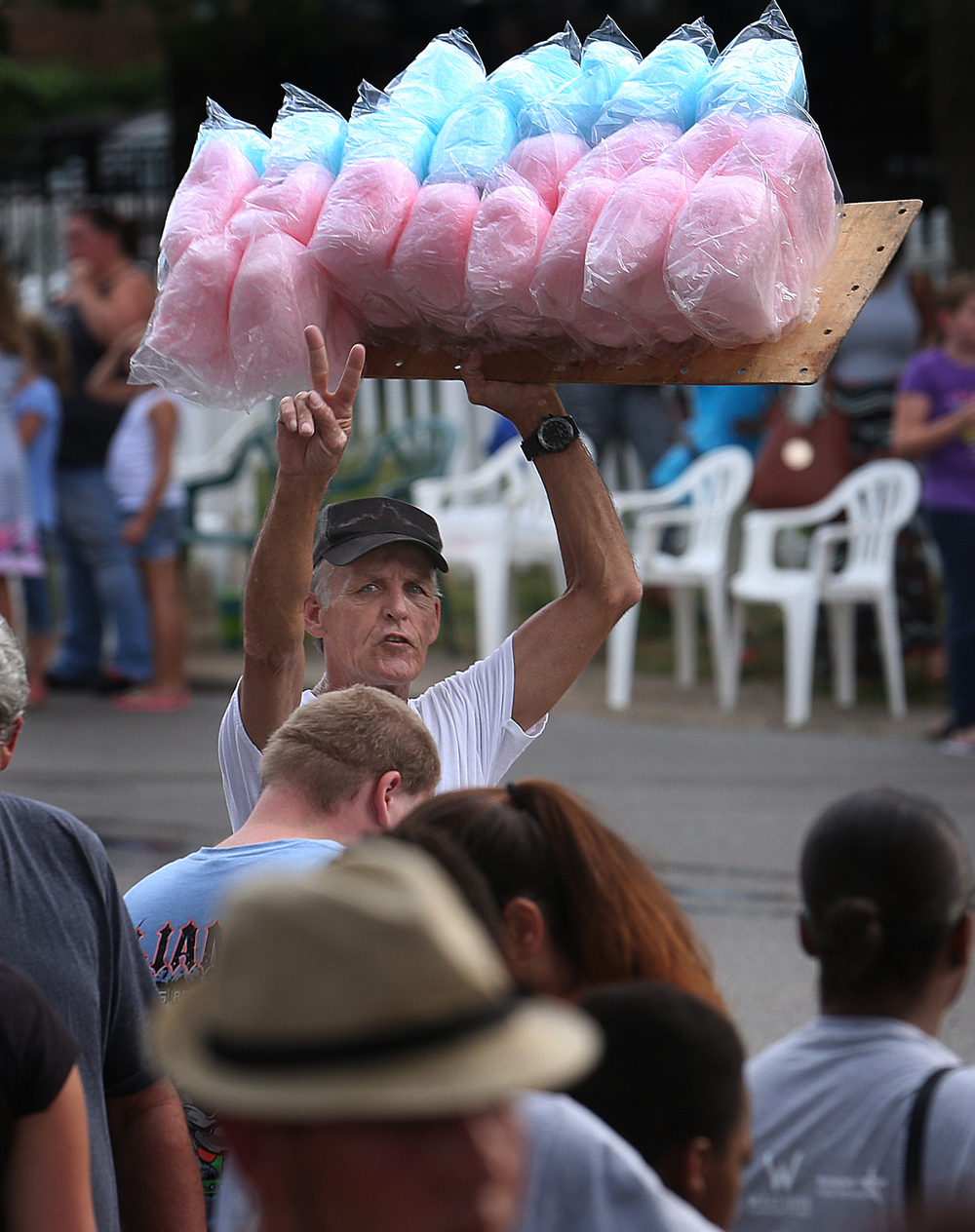 Cotton Candy was being sold along the route. David Spencer/The State Journal-Register