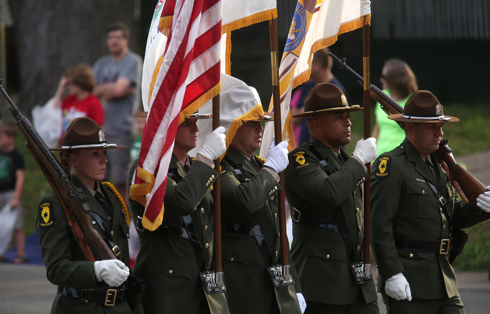 Honor Guards, including the Illinois State Police, lead off the parade. David Spencer/The State Journal-Register