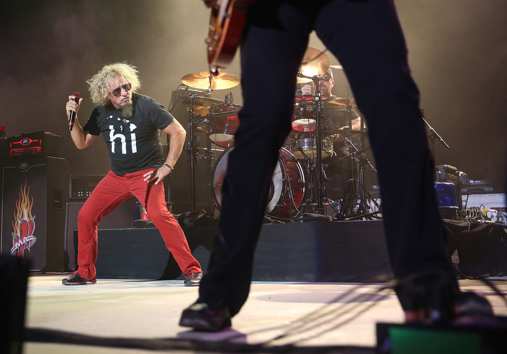 Sammy Hagar performs at the Illinois State Fair grandstand Friday August 14, 2015. David Spencer/The State Journal-Register