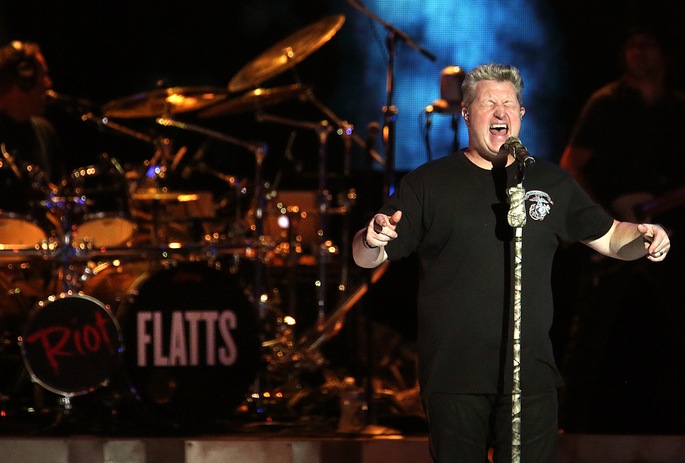 Gary LeVox performs Tuesday night. The country music trio Rascal Flatts were the headliners on the Grandstand Stage at the Illinois State Fairgrounds in Springfield on Tuesday evening, August 18, 2015. David Spencer/The State Journal-Register