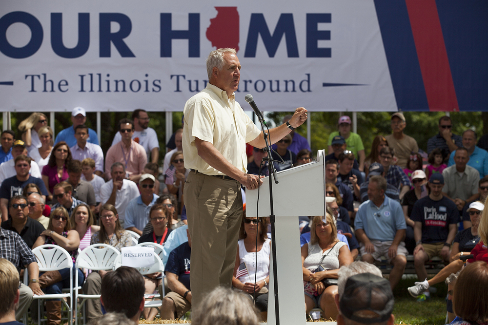 Congressman John Shimkus speaks during the Republican Day rally on the Director's Lawn at the Illinois State Fair Wednesday, Aug. 19, 2015. Rich Saal/The State Journal-Register