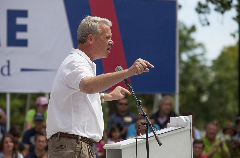 House Minority Leader Jim Durkin speaks during the Republican Day rally on the Director's Lawn at the Illinois State Fair Wednesday, Aug. 19, 2015. Rich Saal/The State Journal-Register