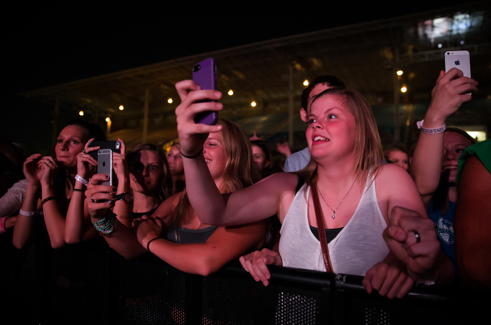Fans eagerly wait for The Fray to take the stage for their Grandstand concert at the Illinois State Fairgrounds, Thursday, Aug. 20, 2015, in Springfield, Ill. Justin L. Fowler/The State Journal-Register