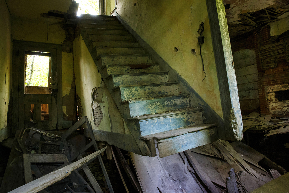 Years of neglect and water damage have taken a toll on the interior of the 1830's era Pensacola stagecoach stop. Ted Schurter/The State Journal-Register