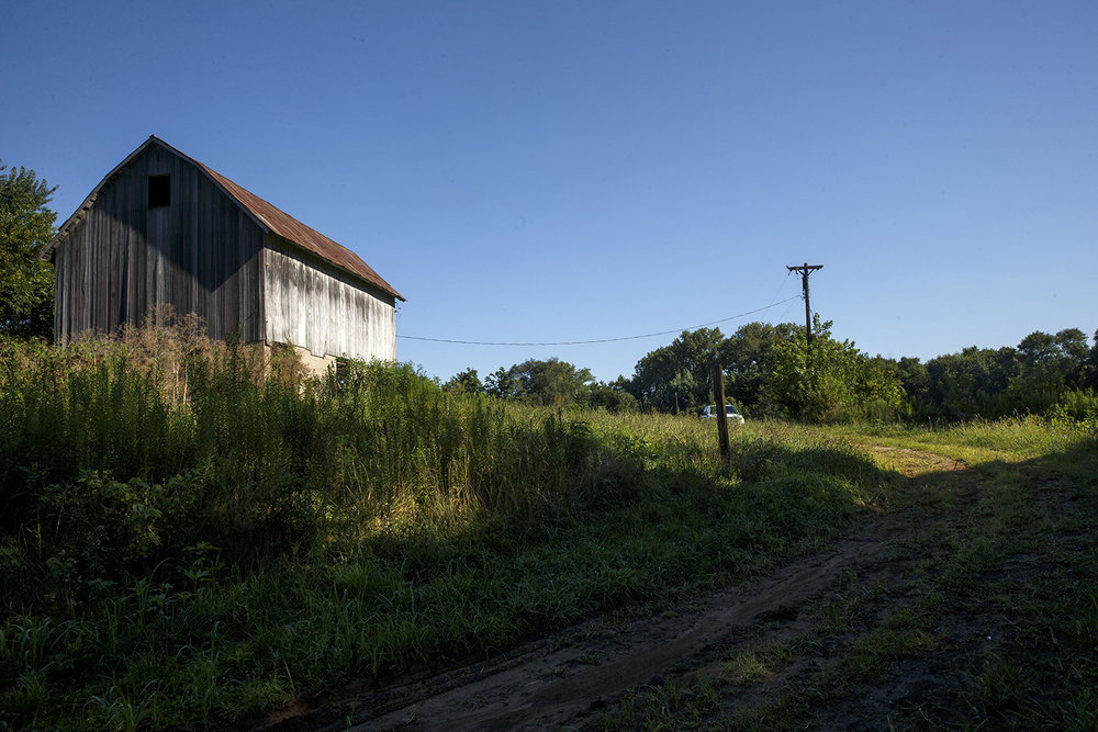 The Hunter Lake dam would be built behind this barn and across Horse Creek. If approved, the sprawling lake would submerge some areas by more than 40 feet of water but the average depth would be around 15 feet. Ted Schurter/The State Journal-Register