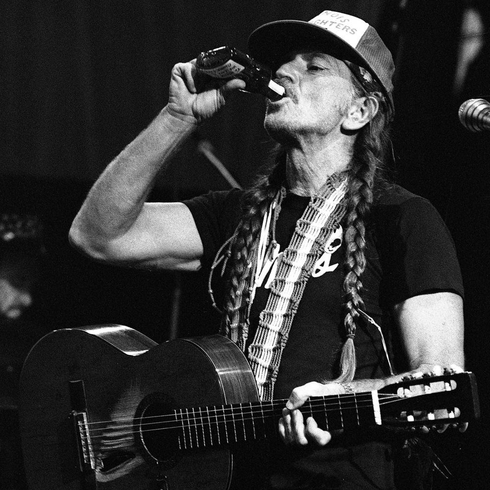 1981: Willie Nelson in concert at the Illinois State Fair Grandstand.