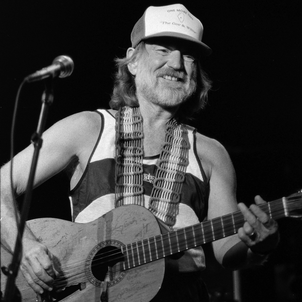1985: Willie Nelson in concert at the Illinois State Fair Grandstand.