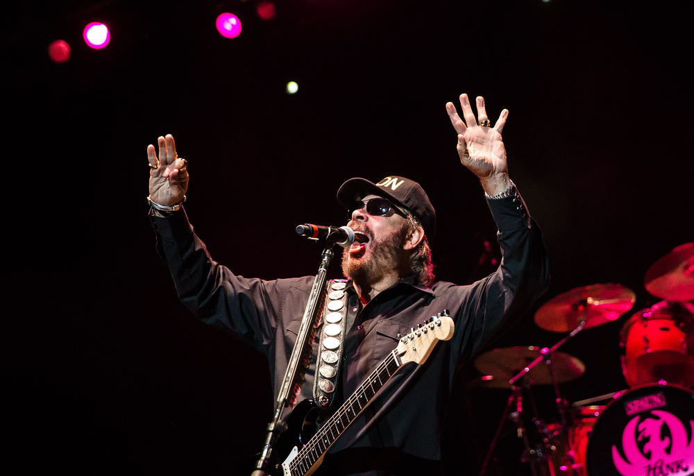 Hank Williams Jr. performs on the Grandstand stage at the Illinois State Fair, Friday, Aug. 21, 2015, in Springfield, Ill. Justin L. Fowler/The State Journal-Register