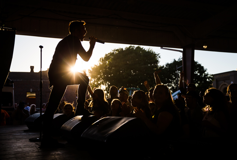 Lead singer Jonathan Steingard of the Christian rock group Hawk Nelson performs on the Lincoln Stage during the 24th Powerlight Fest at the Illinois State Fair, Sunday, Aug. 23, 2015, in Springfield, Ill. The Powerlight Fest is a Christian music festival organized by Greg Cooper and has been a mainstay at the Illinois State Fair since it moved from Knights Action Park in 1991. Justin L. Fowler/The State Journal-Register