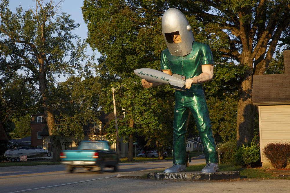 The Gemini Giant  has stood over Route 66 in Wilmington since 1965. The Giant was photographed August 13, 2015. Rich Saal/The State Journal-Register