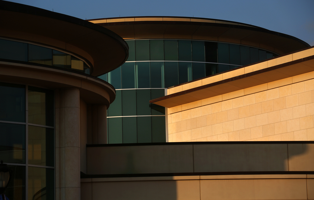 A detail showing the early evening light striking the north facade of the Abraham Lincoln Presidential Museum. David Spencer/The State Journal-Register