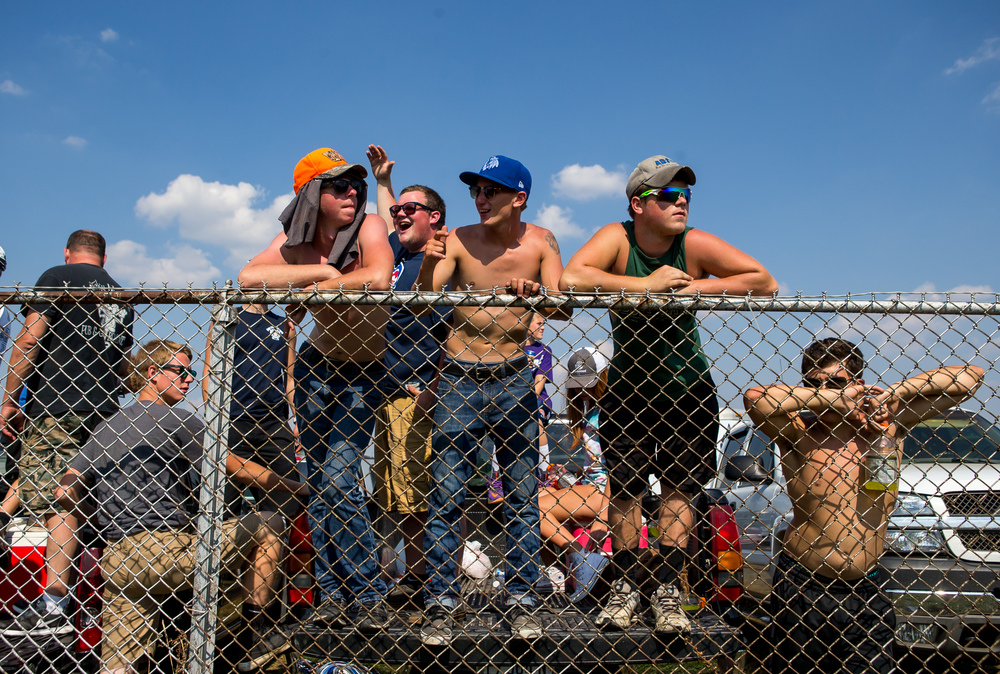 Fans take in the races from the infield during the AMA Pro Flat Track Grand National Championship Springfield Mile II at the Illinois State Fairgrounds, Sunday, Sept. 6, 2015, in Springfield, Ill. Justin L. Fowler/The State Journal-Register