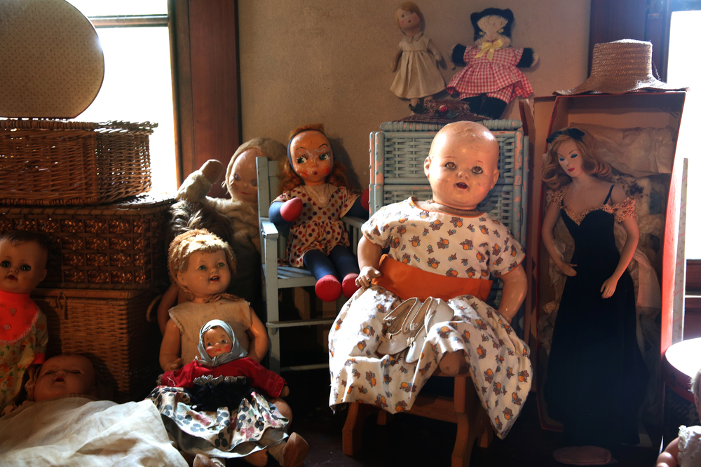 Dolls, some believed to date back to the 19th Century, are seen in the attic playroom on Tuesday, Sept. 8, 2015 and will be auctioned this month. David Spencer/The State Journal-Register