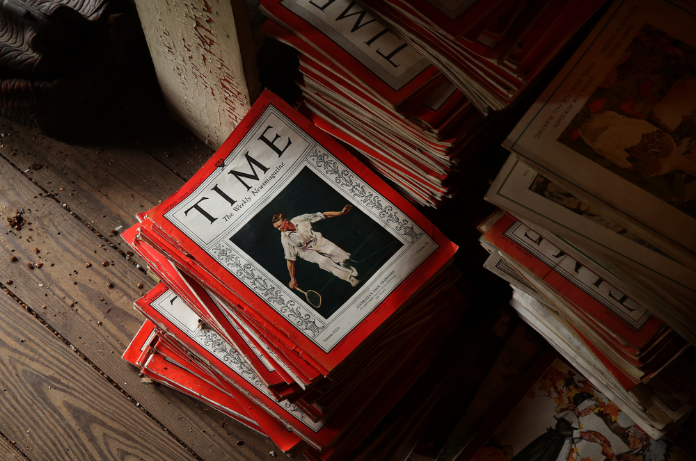 The home and its' contents are a virtual time capsule of artifacts so it is perhaps appropriate for a stack of Time magazines from the 1930's seen in the attic to be included in a future auction. David Spencer/The State Journal-Register