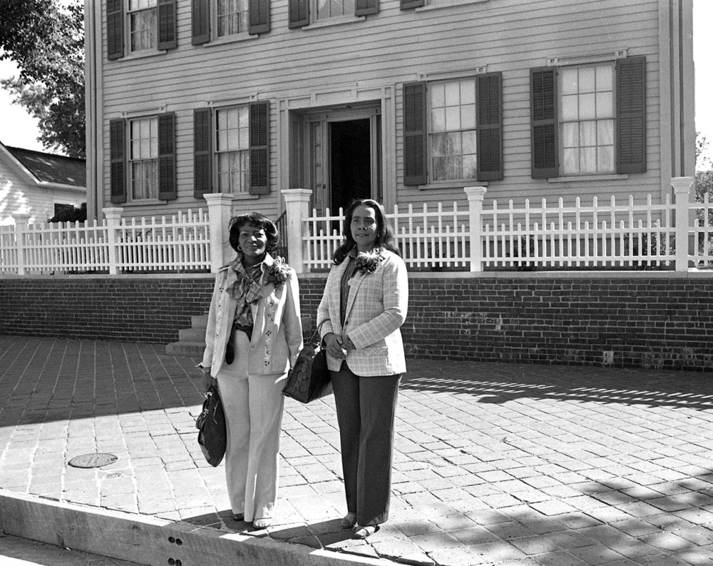 Coretta Scott King and her sister-in-law, Christine King Farris (sister of Martin Luther King, Jr.) toured the Lincoln Home National Historic Site September 18, 1979. File/The State Journal-Register